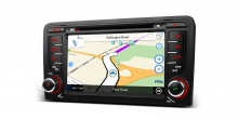 Навигация двоен дин за Audi A3 (2003-2012) PF71A3AS, WinCe, GPS, 7 инча