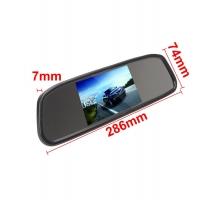 Комплект Огледало с 4.3 инча монитор + КАМЕРА за паркиране в рамка на номера