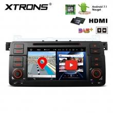 Навигация двоен дин за BMW E46 с ANDROID 7.1 PA7746BP, WiFi, GPS, DVD, 7 инча