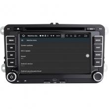 Навигация двоен дин VW SEAT SKODA с Android 7.1 VW0702, GPS, WiFi, DVD, 7 инча