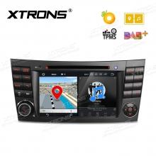 Навигация двоен дин за Mercedes Benz W211 с Android 8.0, PB78M211P, WiFi, GPS, 7 инча