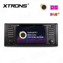 Навигация двоен дин за BMW E39 с Android 8.1 PR7839B, GPS, WiFi, 7 инча