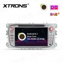 Мултимедия двоен дин за FORD Focus II, C- Max, S- Max с Android 8.1, PR78FSF-S, WiFi, GPS, 7 инча