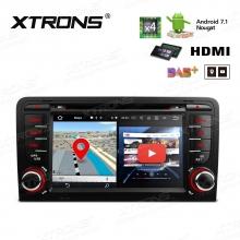 Навигация двоен дин за Audi A3 / S3 / RS3 с WinCE PA77AA3P, GPS, DVD, 7 инча