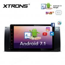 Навигация двоен дин за BMW с Android 7.1, PCD9753BL, WiFi, GPS, 9 инча