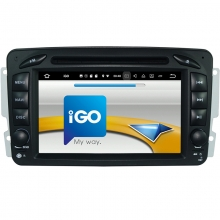 Навигация двоен дин Mercedes W203 W209 W639 с Android 9.0 BZ0702A9, GPS, WiFi, DVD, 7 инча