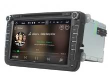 Навигация двоен дин VW SEAT SKODA с Android 8.1 VW0803A81, GPS, WiFi, DVD, 8 инча
