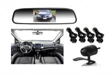 3в1 Огледало + камера за паркиране и парктроник за кола АТ 112M