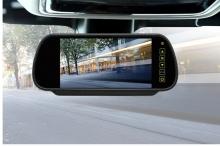 Огледало с вграден 7 инчов монитор + камера за задно виждане
