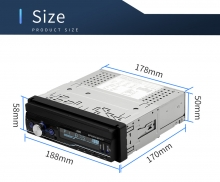 Единичен универсален дин AT100G MP5, GPS, SD slot, Bluetooth, 7 инча