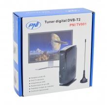 Цифров тунер DVB-T2 PNI TV901, С включена антена
