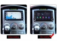 Навигация двоен дин за HYUNDAI H1  (07-12) с Android 9.0 HY627BH  GPS,WiFi, DVD  6.2 инча