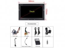 Навигация двоен дин за PEUGEOT 3008,5008 с Android 10 PE7570H GPS, WiFi, DVD, 7 инча