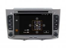 Двоен дин навигация за PEUGEOT 308,408 с Android 10 PE7370SH GPS, WiFi, DVD, 7 инча