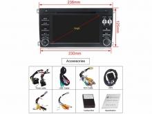Навигация двоен дин за PORSCHE CAYENNE (02-09) с Android 9 P4000H GPS, WiFi,DVD, 7 инча