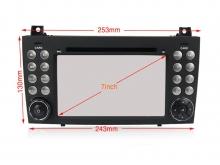 Навигация двоен дин за MERCEDES SLK (04-12) с Android 9 M7980H GPS, WiFi,DVD, 7 инча