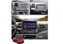 4-ядрена ATZ навигация за Honda Civic(04-11), Android 9.1, RAM 1GB, 16GB
