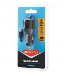 Зарядно за таблети и смартфони за кола с Micro USB кабел + 1 USB CANYON 2.4A