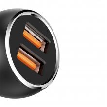 Универсално зарядно устройство за кола LDNIO C503Q, USB 3.0, Type-C кабел