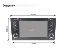 Двоен дин навигация ATZ за Audi A6 Android 10, GPS, RAM 4GB, 32GB
