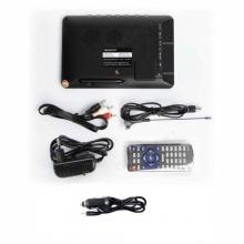 Портативен мултимедиен телевизор с цифров тунер DVB-T2 MSTAR D2 7 инча, БОНУС