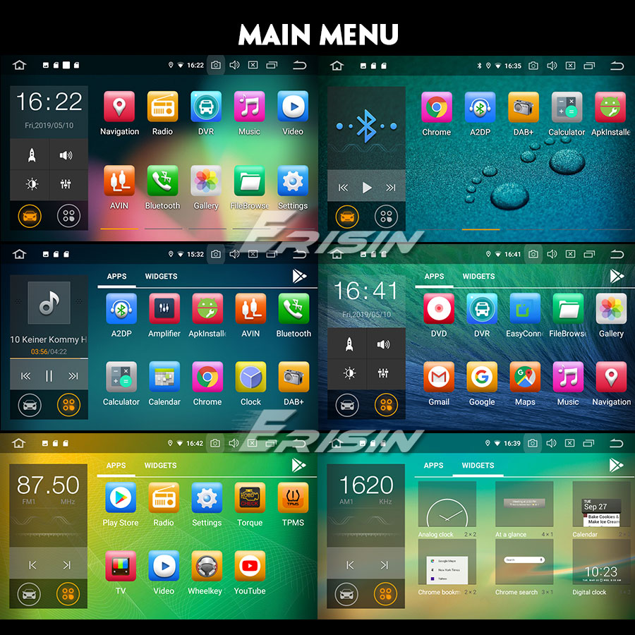 Навигация двоен дин за BMW E46 с Android 9.0 ES7967B, GPS, WiFi, 7 инча