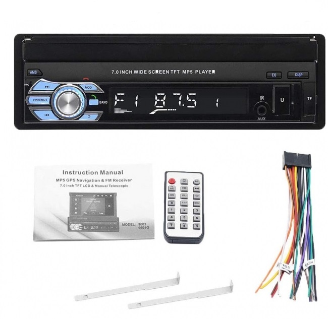Мултимедия плеър 1 Din 9601, Bluetooth, FM, MP3, MP4, МР5 плейър