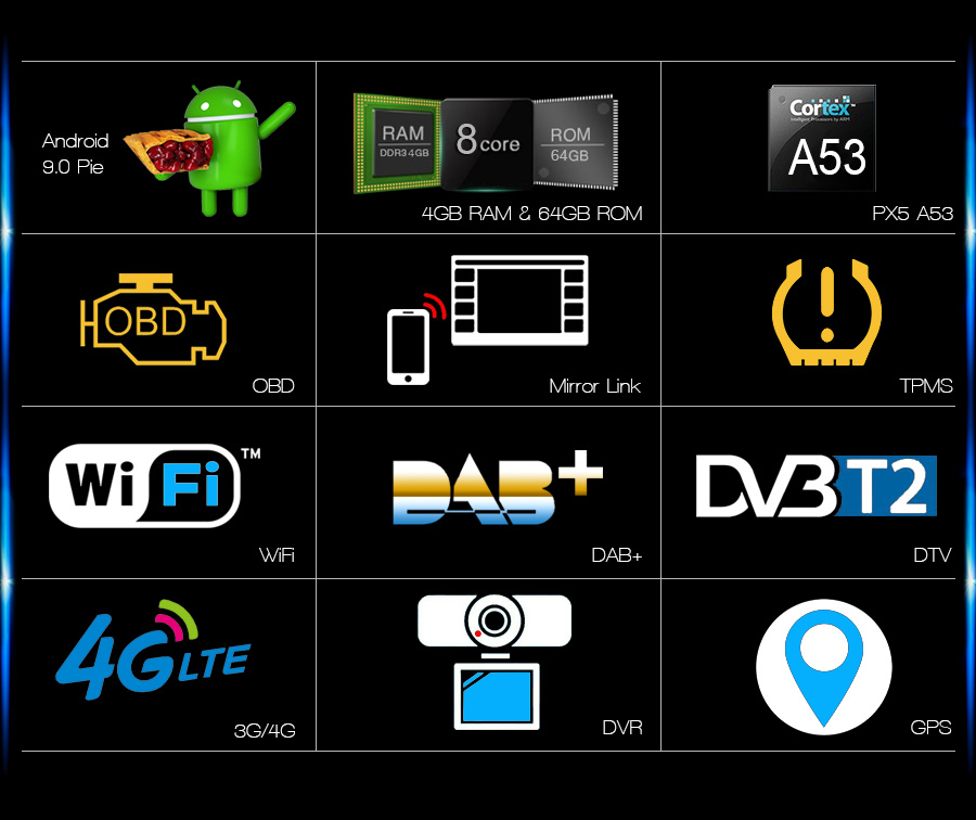 Навигация двоен дин за BMW E39 E53 с Android 9.0 ES7939B, GPS, WiFi, 7 инча