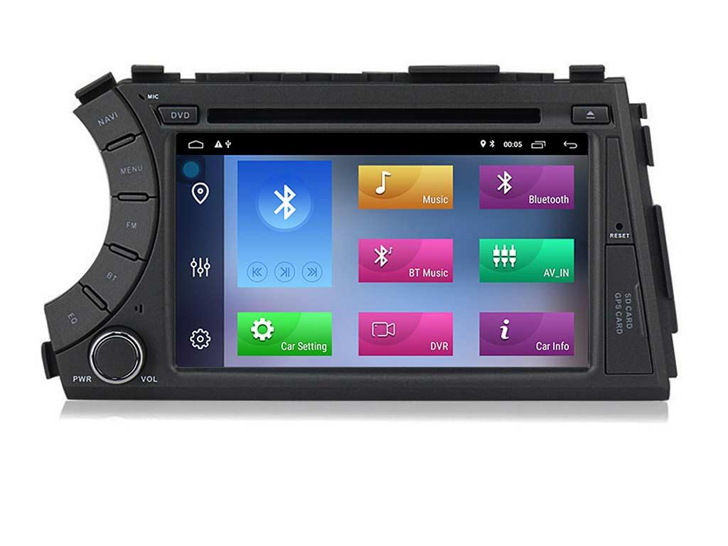 Навигация двоен дин за SSANGYONG Kyron Actyon (05-13) с Android 10 S4000H GPS, WiFi, DVD, 7 инча