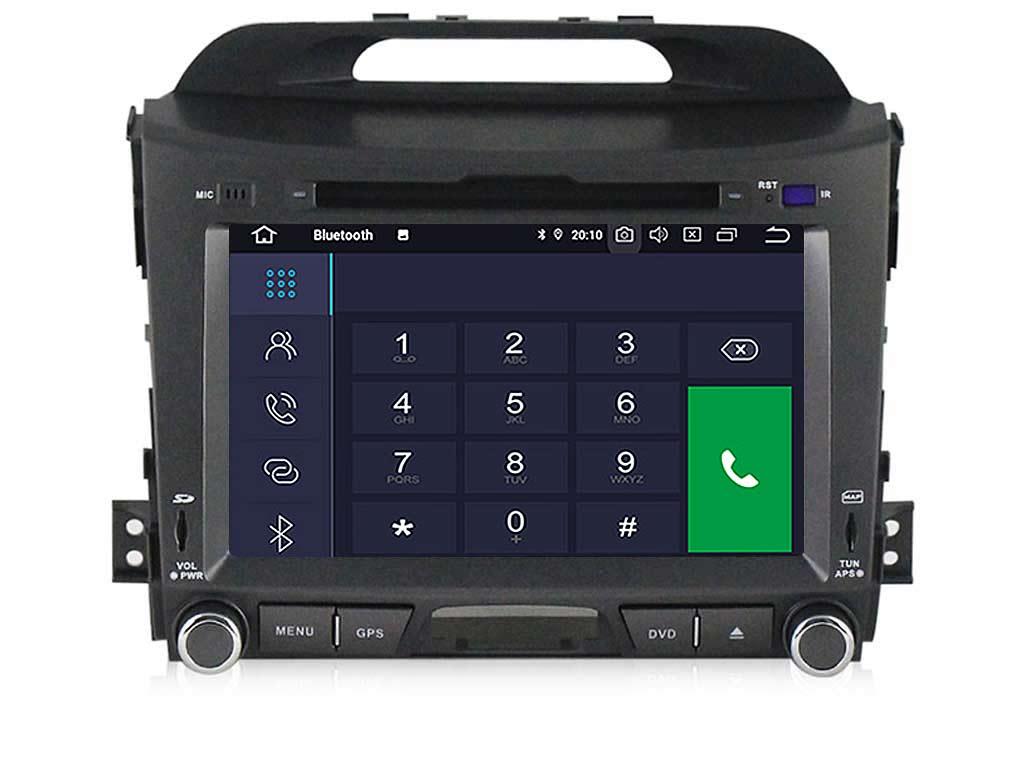 Навигация двоен дин за KIA SPORTAGE(11-15)с Android 9.0  K4002H GPS, WiFi,DVD, 8 инча