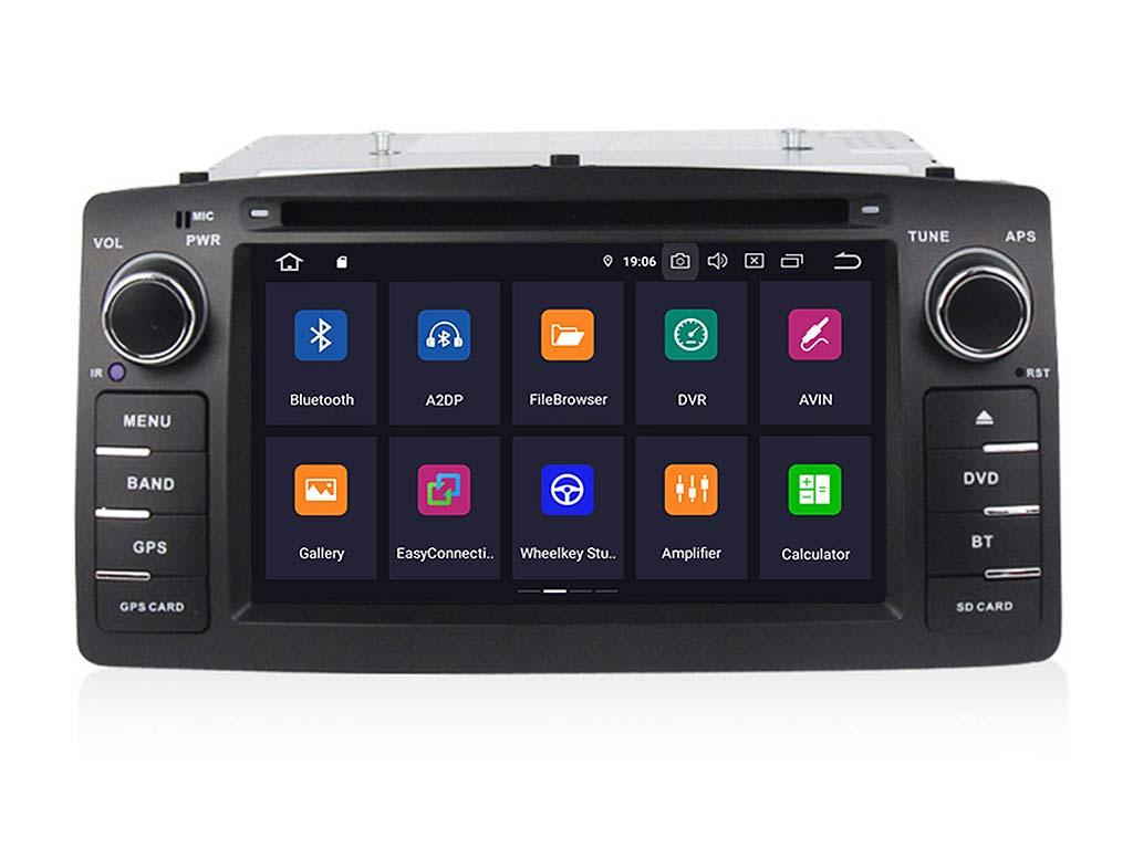 Навигация двоен дин за TOYOTA Corolla E120/E130 с Android 9.0 T4315H GPS, WiFi,DVD, 6.2 инча