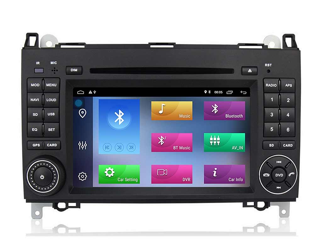 Навигация двоен дин за MERCEDES W169, W245, VIANO, VITO с Android 10 M6911AH GPS, WiFi,DVD, 7 инча