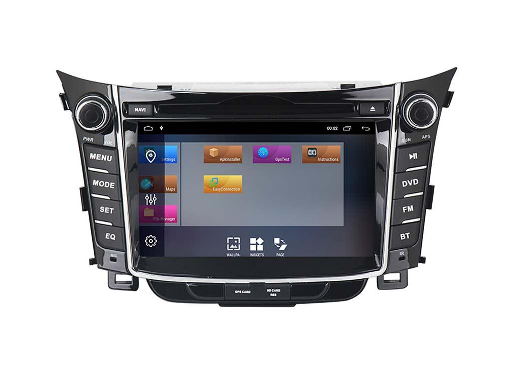 Навигация двоен дин за HYUNDAI I30  (11-15)с Android 10 HY7010H GPS, WiFi, DVD 7 инча