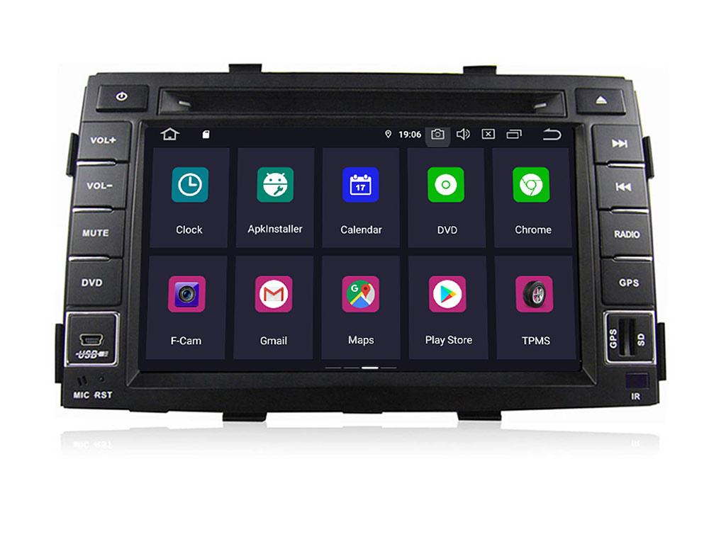 Навигация двоен дин за KIA Sorento(10-12)с Android 9.0 K4000H GPS, WiFi, DVD, 7 инча