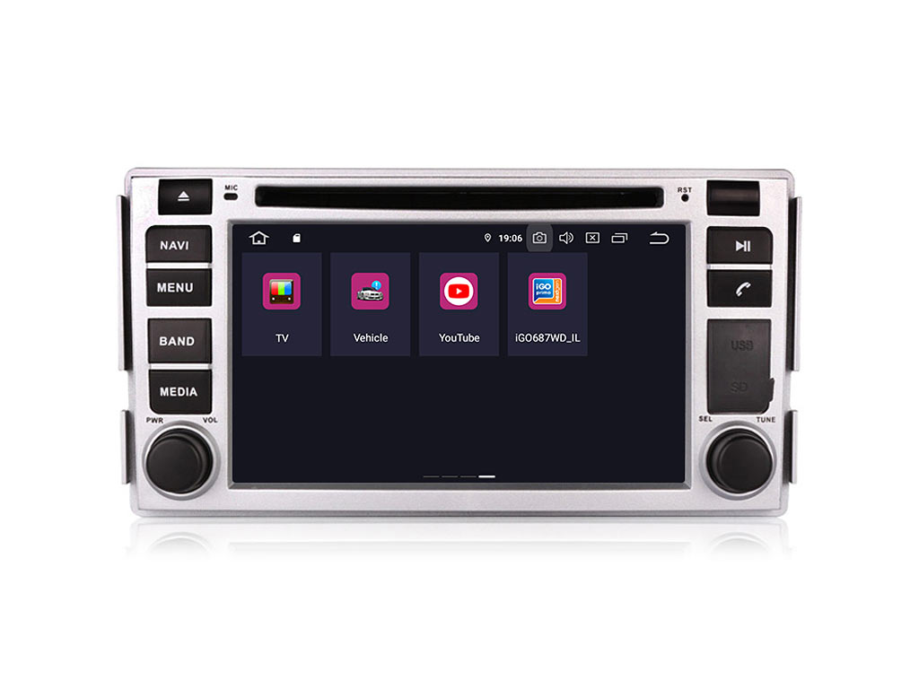 Навигация двоен дин за HYUNDAI SANTA FE (09-13) с Android 9.0 HY6260H  GPS, WiFi, DVD 6.2инча