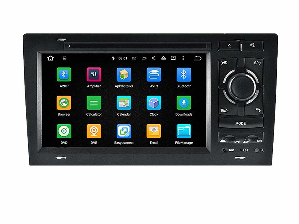 Навигация двоен дин за AUDI A8 (94-03) с Android 8.1 AU7110H GPS, WiFi, DVD 7 инча