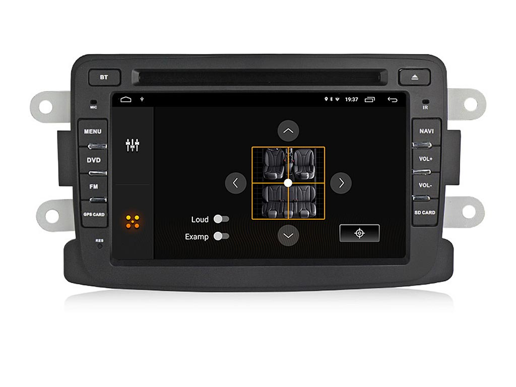 Навигация двоен дин за DACIA Duster, Logan  с Android 10 D7011H GPS, WiFi,DVD, 7 инча