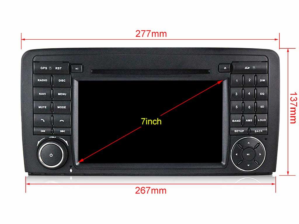 Навигация двоен дин за MERCEDES R280, R300, R320, R350, R500 с Android 9.0 M7930H GPS, WiFi,DVD, 7 инча