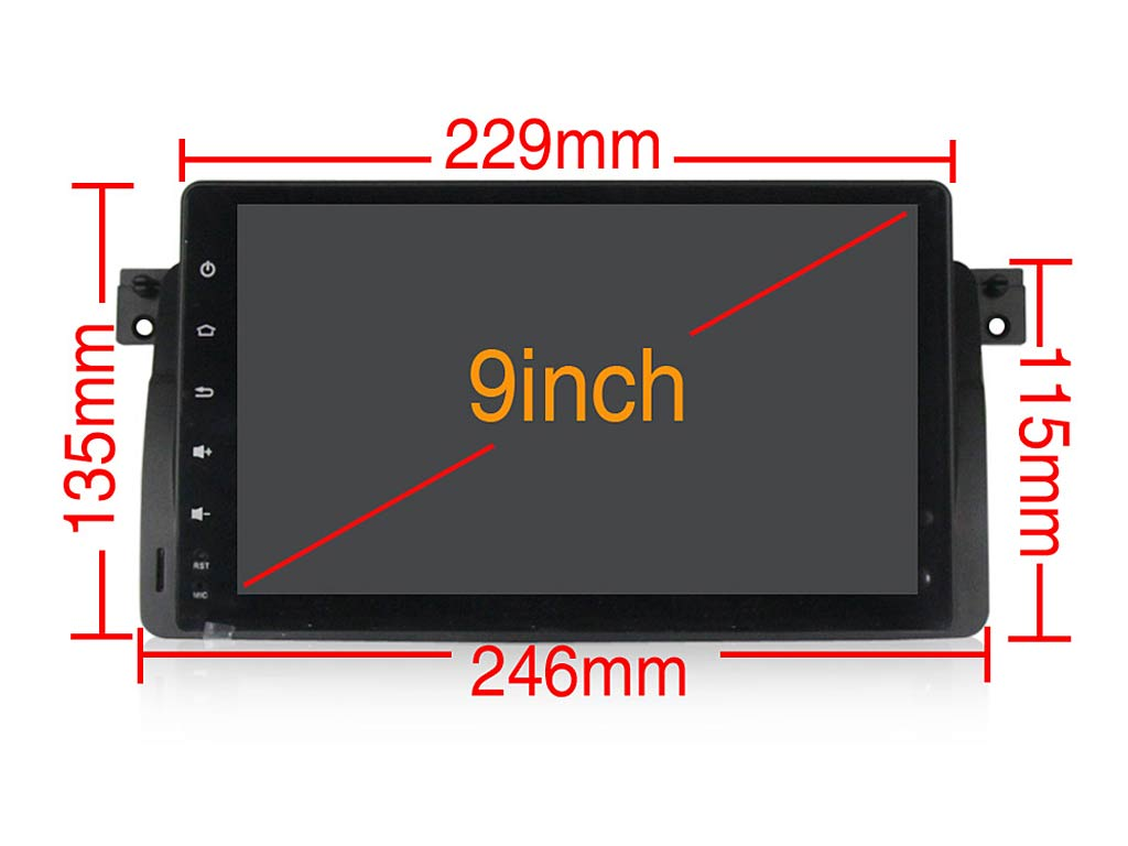 Навигация двоен дин за BMW E46 (03-10) с Android 10 BM4432H GPS, WiFi, 9 инча