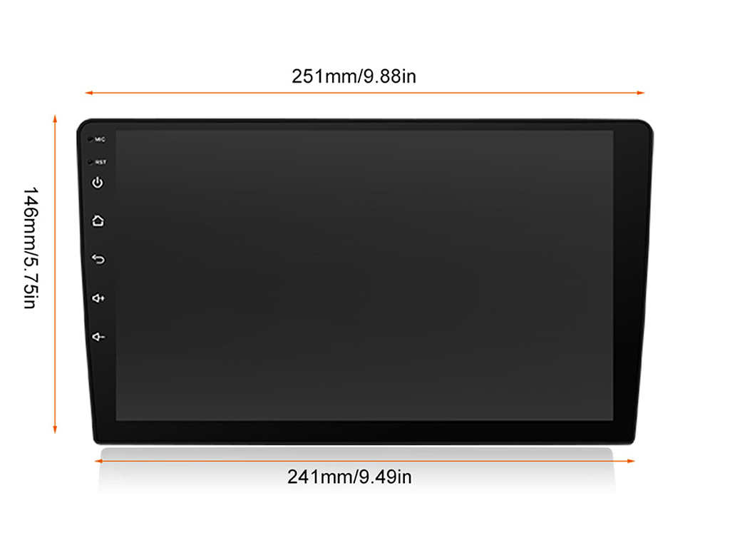 Навигация двоен дин за TOYOTA Camry (06-11) с Android 10 T5380H GPS, WiFi, 10.1 инча