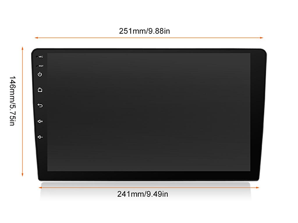 Навигация двоен дин за TOYOTA RAV4 (13-18) с Android 7 T5350H GPS, WiFi, DVD, 10.1 инча