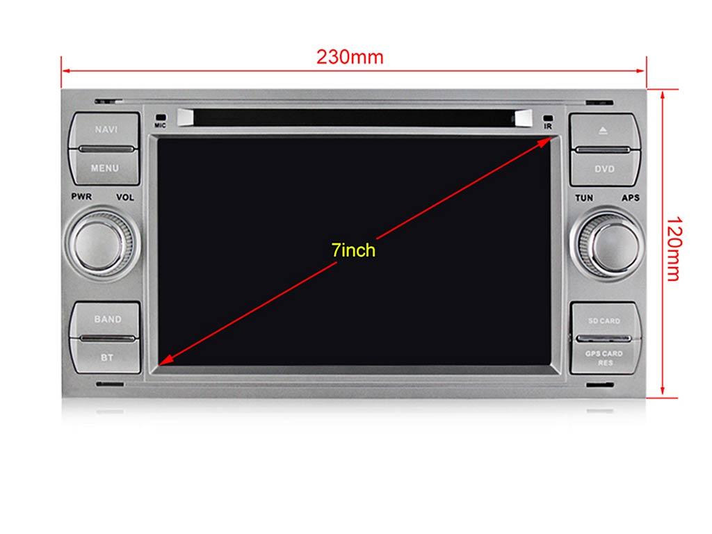 Навигация двоен дин за FORD Focus, Fiesta, Fusion, с Android 10 F4405H GPS, WiFi,DVD, 7 инча