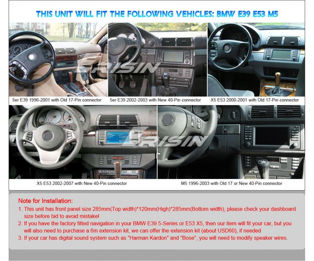 Мултимедийна навигация двоен дин за BMW 5/X5, 4GB RAM, 64GB, 9 инча