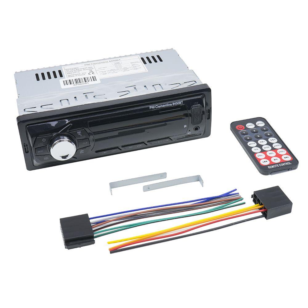 Аудио MP3 плеър PNI Clementine 8450BT - единичен дин с SD, USB, RCA, Bluetooth