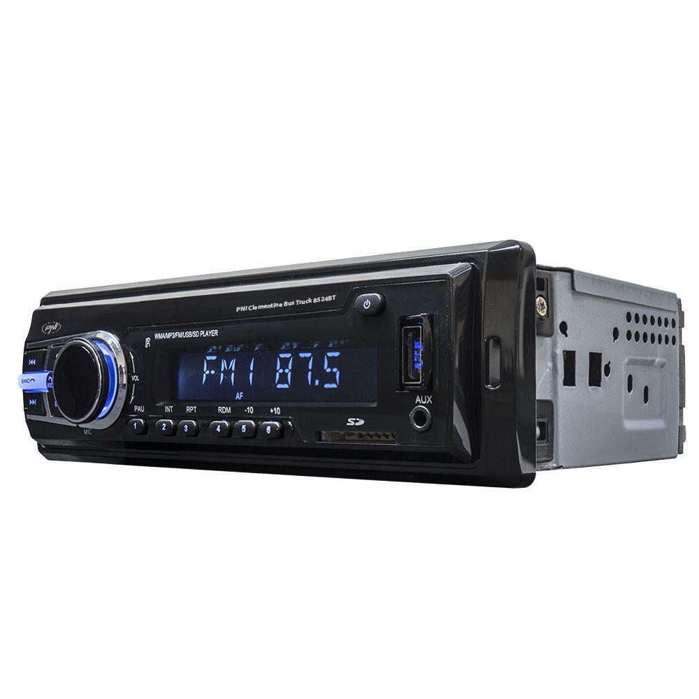 Аудио плеър PNI Clementine 8524BT за кола - единичен дин с SD, 12V / 24V, 4x45W