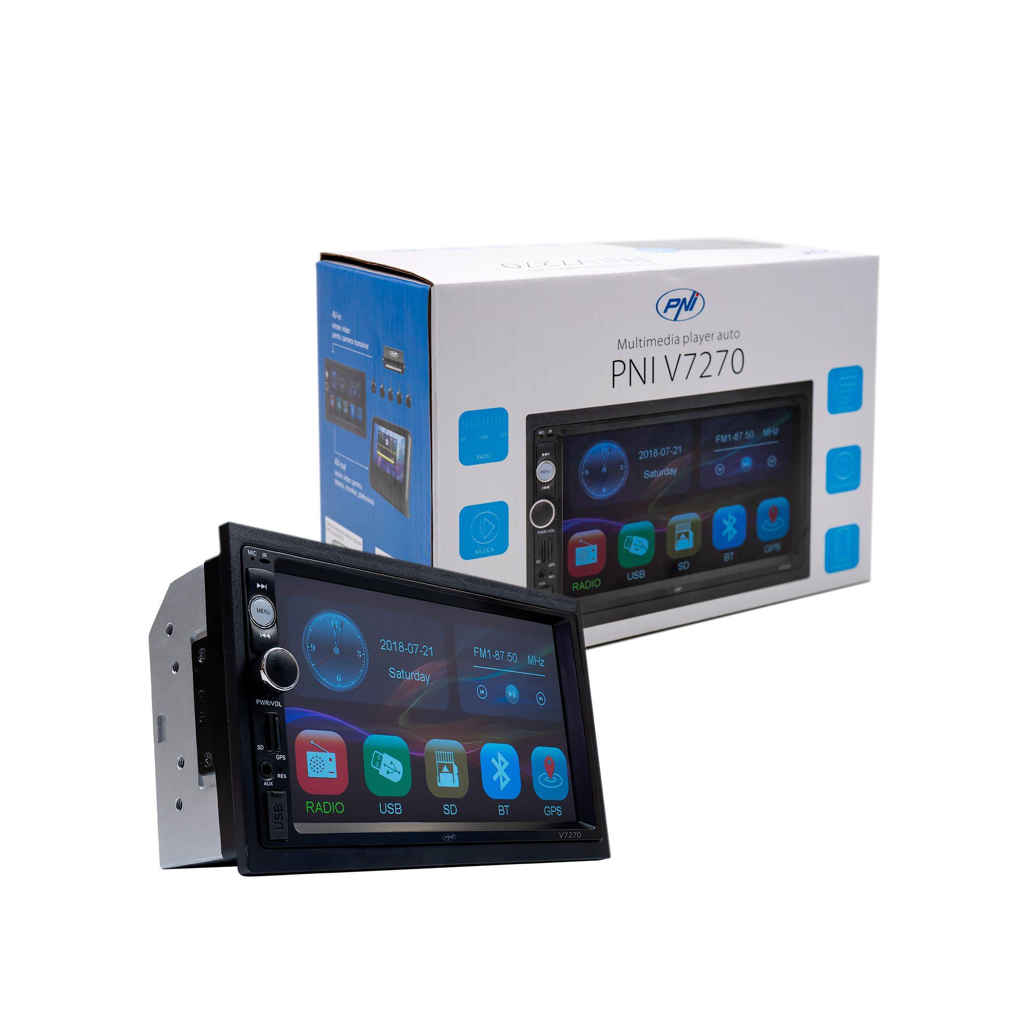 Универсална мултимедийна навигация двоен дин PNI V7270, MP5 GPS, Bluetooth, 7 инча
