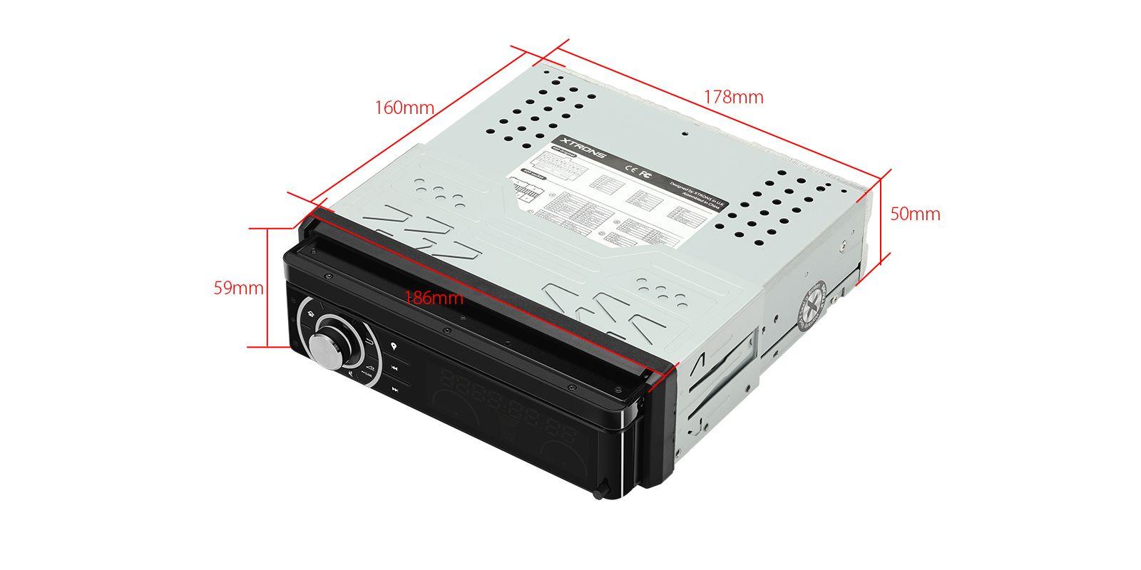 Навигация универсален единичен дин DIB701 GPS, ANDROID 10, WiFi, 7
