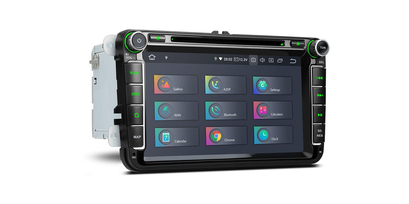 Навигация двоен дин за VW / Skoda / Seat PQ80UNV GPS, ANDROID 10, WiFi, 8
