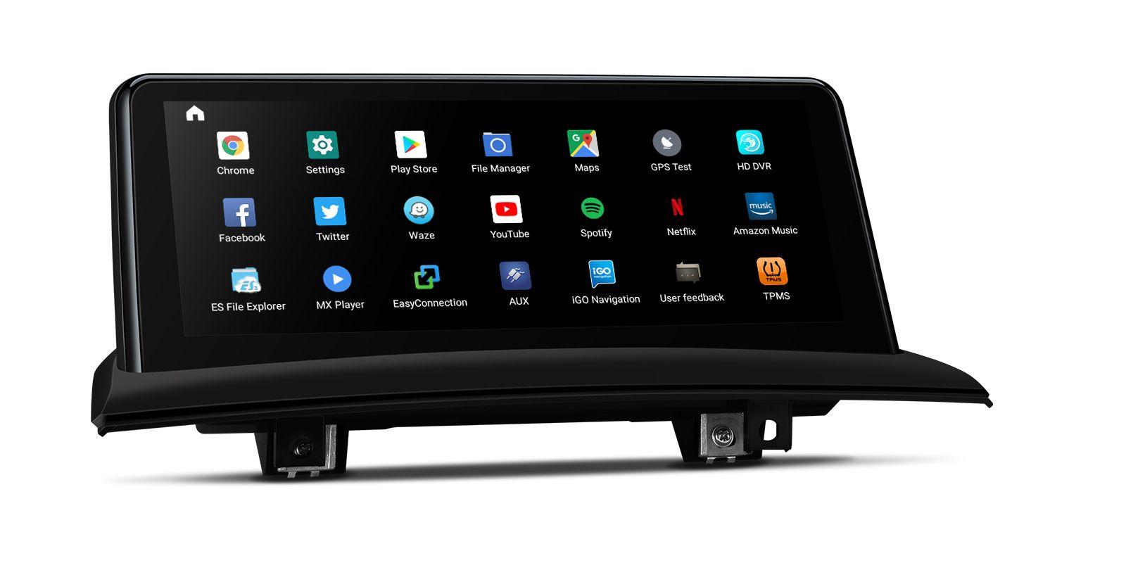 Мултимедия двоен дин с навигация за BMW X3 E83 (2004-2009) QB10X3UNS GPS, ANDROID 10, WiFi, 10.25 инча