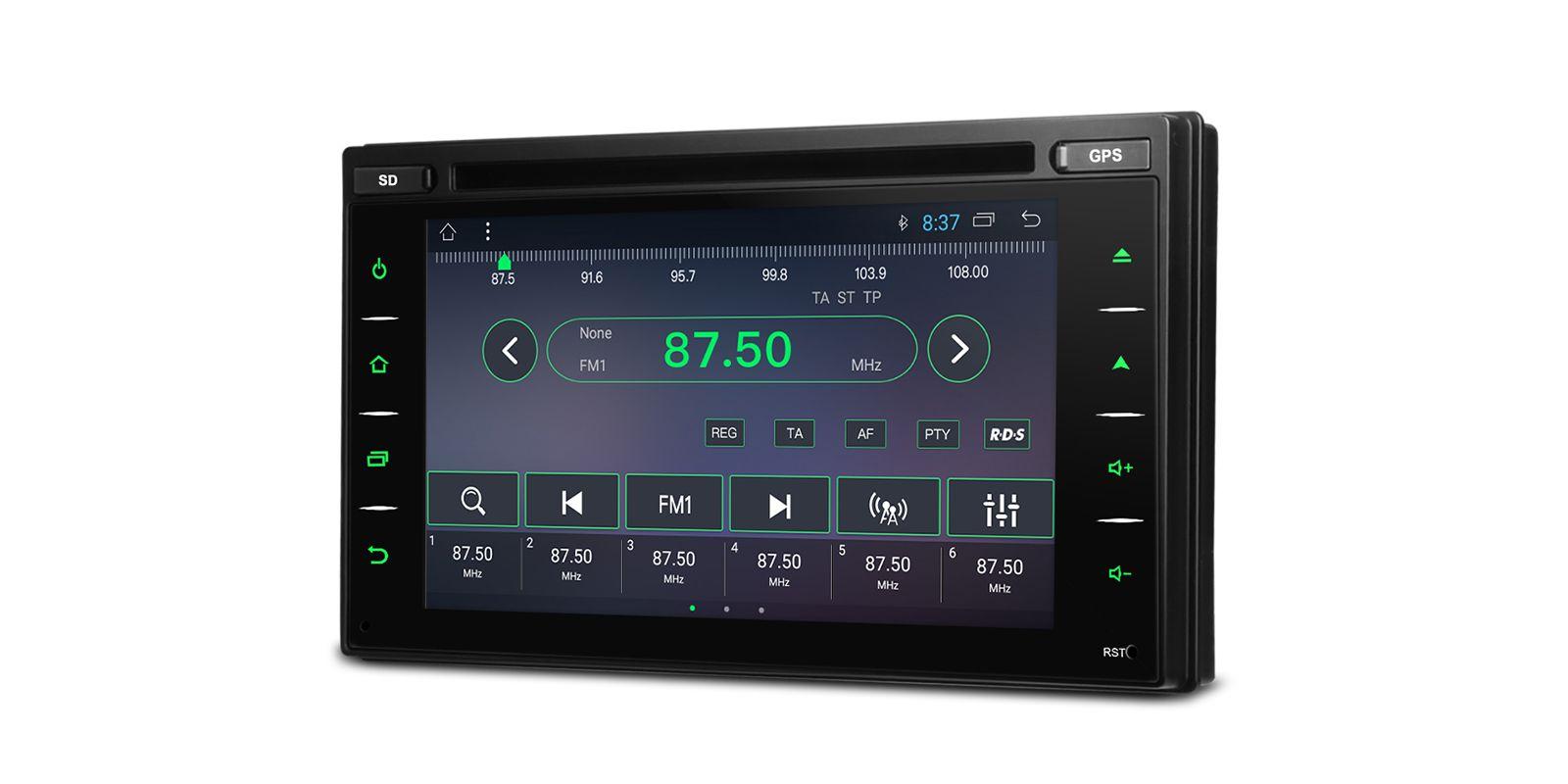 Универсален двоен дин TCD601 GPS, ANDROID 10, WiFi, 6.2